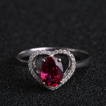 Robira Ruby Anniversary Finger Ring 18K Gold Heart Shape Diamond Wedding Rings for Women Luxury Pigeon Blood Ruby Fine Jewelry