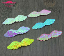 New Arrival 300pcs Glossy Fabric Angel Wing Patches Single Sided Glitter Angel's Wing Applique Patches Scrapbooking,DIY Craft