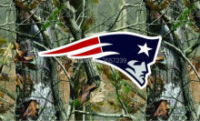 New England Patriots Camo real tree logo Flag 3x5FT NFL banner150X90CM 100D  Polyester brass grommets custom flag, Free Shipping