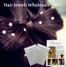 WHOLESALE  Hair Jewel Sticker,  Charmsies Hair Tattoo You can Pick from Star Heart Rhombus Square Crystals or Gems Sticker