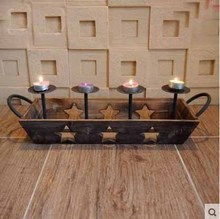 Kingart Table Candle Holder Antique Wedding Home Garden Bar Wooden Candle Lantern Wood Candle Stand