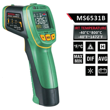 1pcs MASTECH MS6531B Handheld Non-contact Infrared Thermometer Point Temperature Gun with K-type  Temperature Measurement