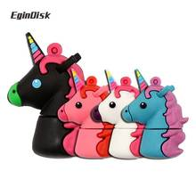 EginDisk Unicorn Usb Flash Drive 4GB 8GB 16GB 32GB 64GB Cartoon Pen Drive Cute Usb Memory Stick My Little Pony Disk On(China)