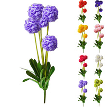 High Quality European Country Style 5 Heads Small Hydrangea Artificial Flowers Lavender Flower Ball Home Decor Silk Flower