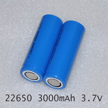 New 3.7v 22650 rechargeable lithium ion battery li-ion cell 3000MAH ICR22650 for LED flashlight torch and speaker