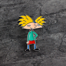 Cartoon boy Brooch Metal Enamel Pin Button Denim Jacket Backpack Shirt Pin Badge Icon Fashion Jewelry for Boy Girl Kids Gift(China)