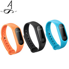 AhSSuf M2 Smartband Fitness Tracke Heart Rate monitor cardiaco bluetooth vibrating bracelet Wristband pedometer Smart Technology(China)