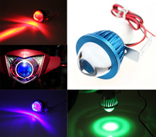 Universal Motorcycle Electric Bicycle 12v-80v LED Super Bright Big Fish Eye Len Headlight Spotlight for Harley Yamaha Honda 0066