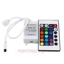 RGB LED Strips Controller IR Remote,24key infrared controller for 5050/3528 LED(China)
