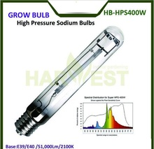 E39/E40 50000 Lumens 2100K Indoor Greenhouse HPS Grow Lights Plant Lamp 400W for Flowering Growth T15