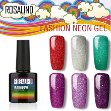 ROSALIND P+Black Bottle 10ML Rainbow Shimmer R01-29 Gel Nail Polish Nail Art Nail Gel Polish UV LED Gel Long-Lasting