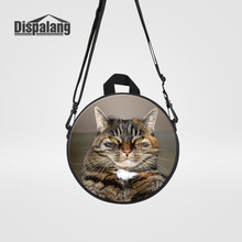Dispalang Animal Cat Children Back Pack Kids Kindergarten School Bags Mini Round Messenger Bag For Girl Boys Baby Travel Bagpack