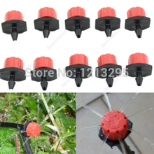 Y102 50pcs Garden Irrigation Misting Micro Flow Dripper Drip Head 1/4'' Hose(China)