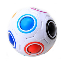 New Sale Creative Rainbow Football Creative Ball Children Kids Spherical Magic Cube Toy Learning And Education Puzzle Toys
