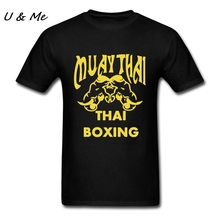Original Muay Thai t-shirt Men Punk Black Shirts for Males Cheap Plus Size Boxinger Tee Shirts Men Plus Size(China)