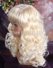 Wholesale price FREE p&P****New Fashion Curly lady's synthetic wigs(China)