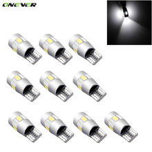 10pcs Super Quality 6LED SMD 5630 Error Free 194 168 W5W Universal parking Car LED T10 LED T10 LED Car Side Light