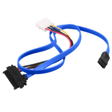7 Pin SATA Serial ATA to SAS 29 Pin and 4 Pin Power Adapter Connector Cable for Hard Disk Drive