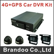 4G DVR GPS Mobile DVR 4 Channel 720P DVR Car DVR For Train Bus Taxi(China)