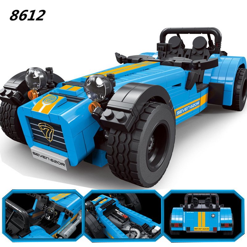 DECOOL 8612 ideas racers Caterham Seven 620R Sports Car And F430 Sports Model Toys Blocks Brick Compatible 21307 for children<br>