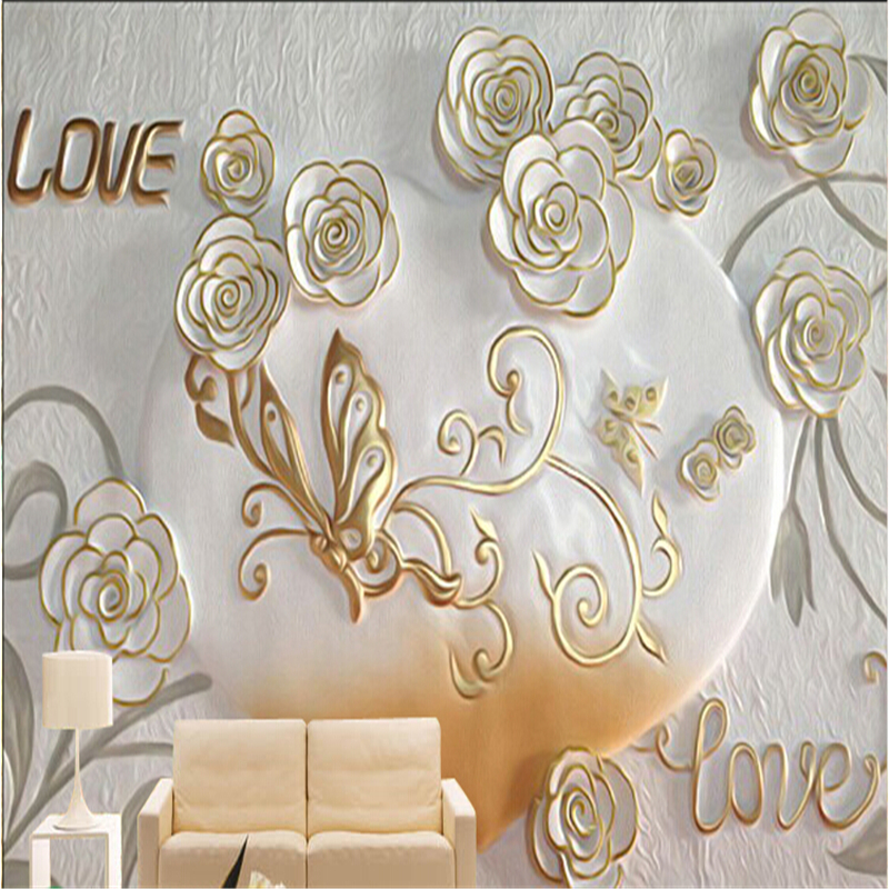 Custom 3d photo wallpaper European romantic bedroom 3D stereoscopic video wall backdrop wall paper embossed 3d wallpaper<br><br>Aliexpress