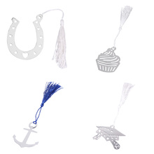 Silver Decoration Ice Cream Bookmark Wedding Party Favors Wonderful gifts for Guests customer 9*7.5*2cm(China)