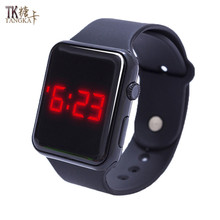 Fashion sports watch a variety of colors optional digital display LED electronic watch rubber strap leisure section