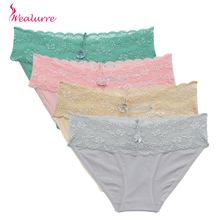 Buy Wealurre Women'S Sexy Lace Panties Women Underwear 2019 Seamless Cotton Breathable Briefs Lingerie Low Rise Sheer Calcinha Renda
