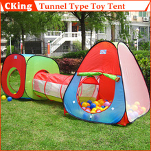1 Ser Foldable Children Outdoor Toys House/Portable Tunnel Type Toy Tent for Kids/Novetly Gift For Baby Free Shipping