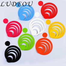 DIY Colorful Circle Acrylic 3D Wall Sticker for Living Room Kids Room Remocable Waterproof Wall Decal Home Decoration Sticker