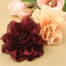 Free Shipping Vintage Retro Style Chiffon Flower Crafts DIY Jewelry Findings Accessory Material Toddler Kids Headband Flowers