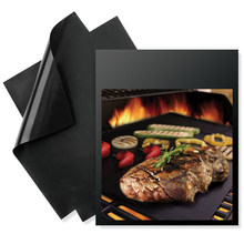 2Pcs/lot Reusable Non-stick BBQ Grill Mat 0.2mm Thick PTFE Barbecue Grill Mats Cooking And Baking And Microwave Oven Grill Sheet(China)