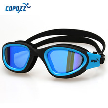 Copozz Swimming Goggles Anti-Fog Men Women Waterproof Comfortable Silicone Glasses Adult Plating  Eyewear