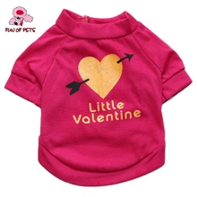 2017 Little Valentine Pattern Vest for Dogs (Rose,XS-L) Lovely Cotton Rose Dog Clothes Dog shirt for Pets Dogs