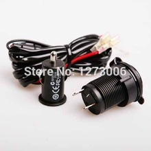 1pcs 12 Volt Power Outlet Lighter Kit For Your Motorcycle ATV  GPS Phone Mp3 Car Accessories Car-Styling Hot Sale High Quality