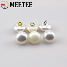 MEETEE 20pcs/lot high-quality environmentally friendly resin pearl button shirt sweater fashion clothing button B3-5(China)