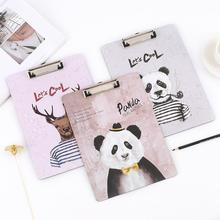 A4 Board Clip Portrable Plastic File Clipboard Student School Restaurant With Hook Office Supplies Stationery Folder Carpeta(China)