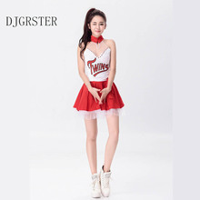 DHGRSTER Sexy Girls Lady Cheerleading Uniform Cheerleader Costume Model Stage Costume for Automobile Expo Car Show Baby Costume