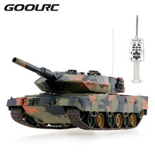 Original 3809 1/24  German Leopard II A5 Airsoft Battle Panzer RC Tank with Programming Function