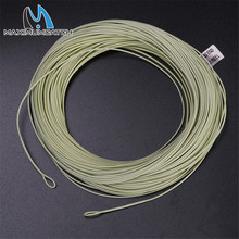 Maximumcatch 100FT Fly Fishing Line 2/3/4/5/6/7/8wt Weight Forward Floating Fly Line With Welded Loop Moss Green Color(China)