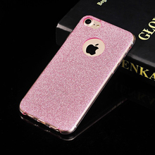 Mobile Phone Case For iPhone 7 6 5 s SE 5s 6s Plus 6Plus 7Plus Ultra thin Back Cover Luxury Cute Shining Glitter Powder Soft TPU