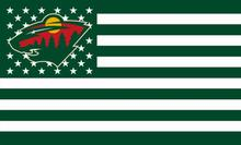 Minnesota Wild Digital Print flag 90x150 cm 3x5ft polyester banner with 2 Metal Rings(China)
