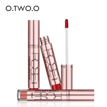 O.TWO.O 12 colors wholesale Lipstick Lip Tattoo Makeup Long Lasting Pigment Gold Metallic Lipgloss Matte Liquid Lipstick(China)