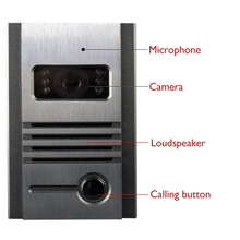 Freeship Night Vision Outdoor Intercom Camera Metal Outdoor Unit For Doorphone Free Combination With Our Video Door Phone
