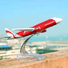 16cm AirAsia A320 Airlines Diecast Plane Model Airbus Airplane Model for gifts(China)