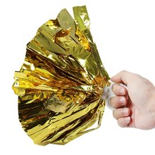 Shining Golden Color Pompoms Professional Cheerleading Tools Cheering Pom Poms Hand Flowers Dancing Cheerleading Pompoms
