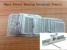 29Pcs BGA Reball Reballing Stencil Template Direct Heating Universal Stencil + Direct Heating Reballing Station Jig(China)