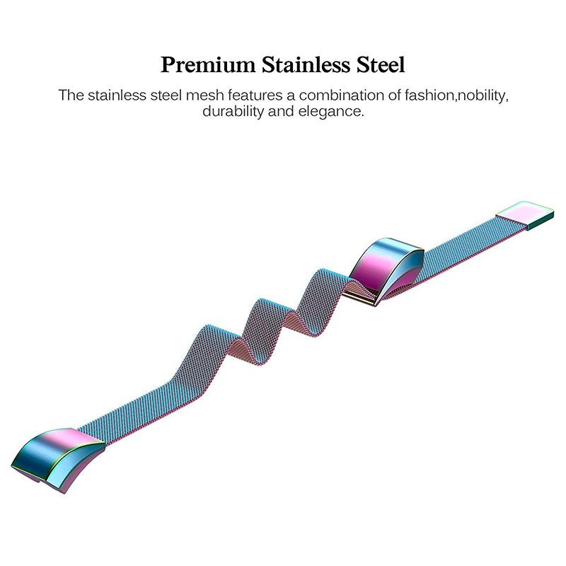 Amzdeal Fashion Metal High Quality Replacement Strap Wrist Band Belt for Fitbit Alta Bracelet HR Monitor Smart Watch Accessories 9