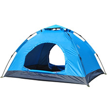 VILEAD Outdoor 3-4 Person Automatic Tent Double People Camp Camping Quick Opening Tent Easy Open and Close Good Ventilating(China)