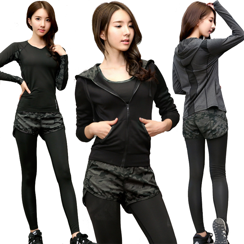 3 Pcs Fitness Yoga Set Jacket+Bra+Pants Sport Set Gym Clothes Sport Wear Training Suit Mesh Patchwork Leggings Running Clothing<br>